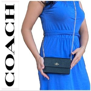 NWT authentic COACH 3 in 1 leather purse black
